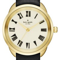 kate spade new york 'crosstown' leather strap watch, 34mm | Nordstrom