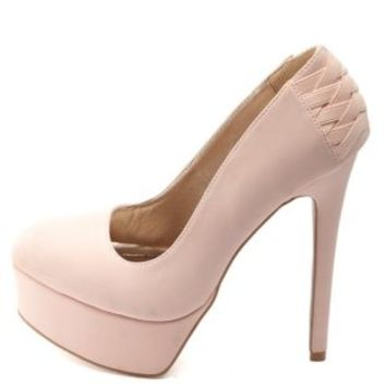 Corset-Back Platform Pumps by Charlotte Russe