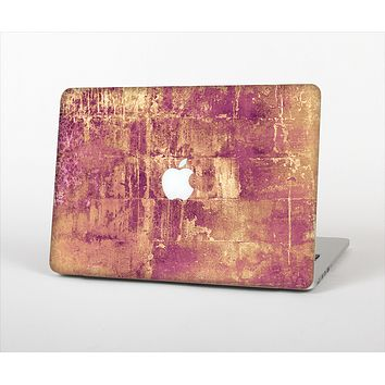 """The Pink Paint Splattered Brick Wall Skin Set for the Apple MacBook Air 13"""""""