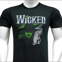 Wicked the Broadway Musical - Black Sketch Logo T-Shirt