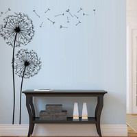 Wall Decal Vinyl Sticker Decals Art Decor Design Dandelion Flower Nature Plants Botanic Grass Forest Bedroom Living Room Nursery  (m1342)