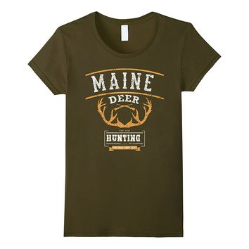 Maine Deer Hunting Club- T-shirt For Maine Hunters