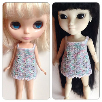 Blythe Crochet Dress, Makies Crochet Dress, Cotton Dress, Crochet Doll Dress, Handmade Dress, Crochet Dress