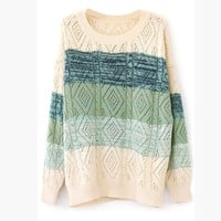 Stripe Color Block Sweater (one size) = 1837898820