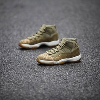 Air Jordan 11 Retro AJ11 Olive Lux Sneaker Shoes US5.5-13