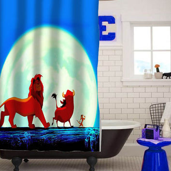 hakuna matata special custom shower curtain