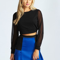 Lana Pleated Scuba Mini Skirt