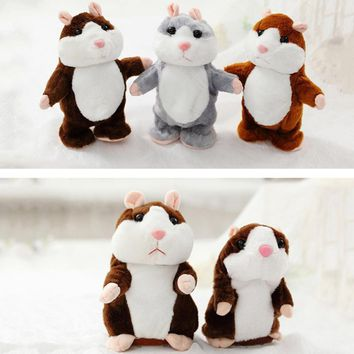 Sound Recording and Talking Plush Hamster Doll Toys