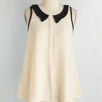 Mid-length Sleeveless Color Me Classy Top by ModCloth