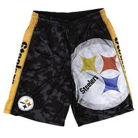 Pittsburgh Steelers Forever Collectibles KLEW Big Logo Performance Shorts S-2XL