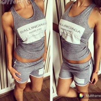 New casual sports clothing letter short sleeves [11407006671]