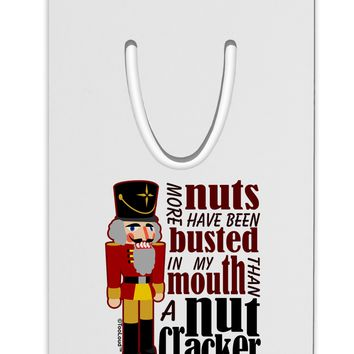 More Nuts Busted - My Mouth Aluminum Paper Clip Bookmark by TooLoud