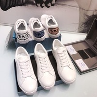 PRADA Leather sneakers with comics patch