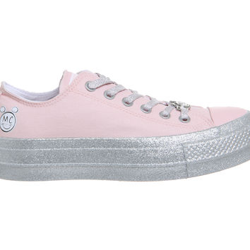 Converse Ctas Lift Ox Trainers Pink Dogwood White Black - Hers trainers
