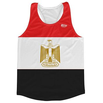 Egypt Country Flag Running Tank Top Racerback Track and Cross Country Singlet Jersey
