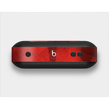 The Dark Red with Translucent Shapes Skin Set for the Beats Pill Plus