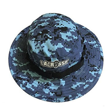 Bucket Hat Digital Camo LACROSSE Boonie Safari Style (7 1/2, Sky Blue)