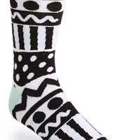 Men's Topman Pattern Socks - Black