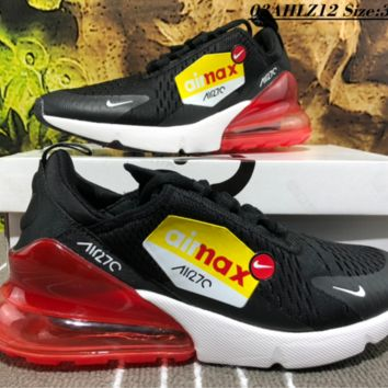 Nike Air Max 270 VAPORMAX FLYKNIT Casual Running Shoes Red