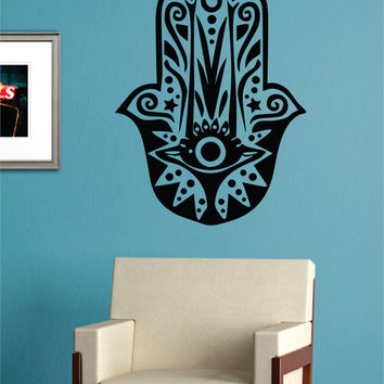 Hamsa Hand Version 8 Design Decal Sticker Wall Vinyl Decor Art