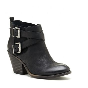 Sole Society Maris Stacked Heel Buckle Bootie