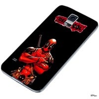 DCD - Deadpool Superhero Marvel Comic Custom Case for Samsung Galaxy S4 S5 (Samsung Galaxy S5 white)