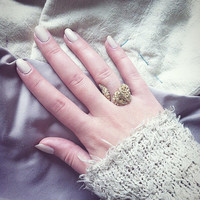 BACCHUS - Adjustable Chunky Sheepskin Rope Vines Ring