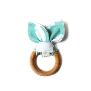 Wooden Baby Teether Tiffany Clouds