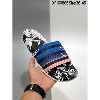 New Adidas Adilette cheap Men's and women's nike Slippers Beach shoes