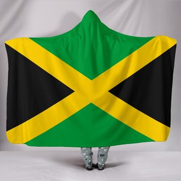 Jamaica Flag Hooded Blanket