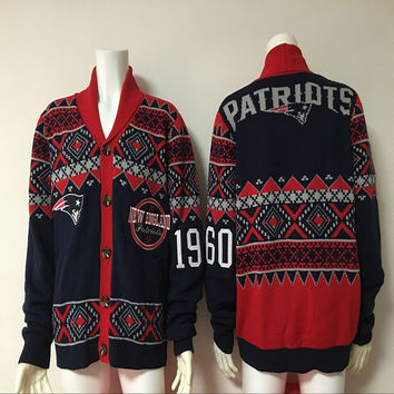 SUPER BOWL 2017 New England Sweater Winter Pullovers Patriots Sweaters
