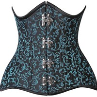 Daisy Corsets Top Drawer CURVY Brocade Double Steel Boned Under Bust Corset