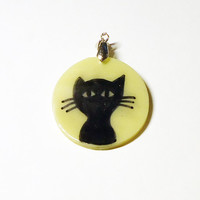 Black Cat Pendant - Glow in the Dark - chooce your own chain