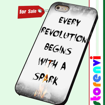 Catching Fire-Hunger Games quote custom case for smartphone case