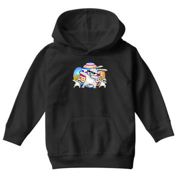dabbing bunny easter Youth Hoodie