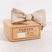 FORAGE Haberdashery Black Linen Bow Tie - Assorted One