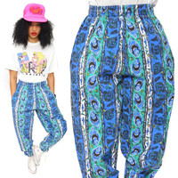 Vintage 80s Breakers Surfer Skater Pants Graffiti-Inspired Pop Art