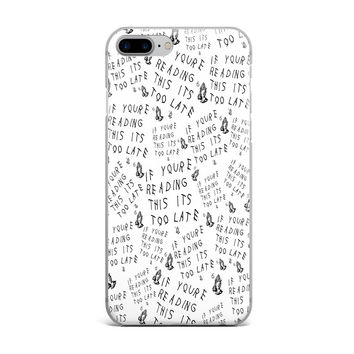 DRAKE TOO LATE CUSTOM IPHONE CASE