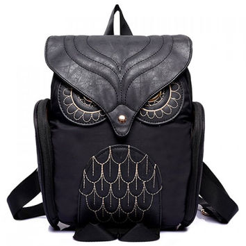 Stylish Owl Shape and Solid Color Design Women's Satchel