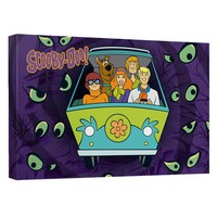 Scooby Doo - Night Ride Canvas Wall Art With Back Board