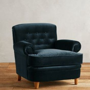 Velvet Kimmeridge Armchair by Anthropologie