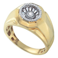 Diamond Fashion Mens Ring in 14k Gold 0.45 ctw