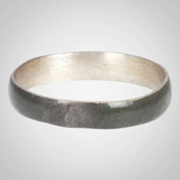 Ancient Viking Natural Bronze Wedding Band Jewelry C.866-1067A.D. Size 10 3/4   (20.6mm)(BRR679)