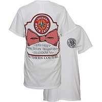 SALE Southern Couture ULL Ragin Cajuns Classic Bow University of Louisana Lafayette Girlie Bright T Shirt