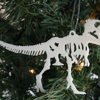 Acrylic T-Rex Dinosaur Skeleton Christmas Ornament
