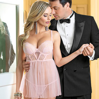 Pretty in Pink & Gold Babydoll