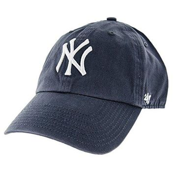 '47 New York Yankees Strapback Brand Clean up Adjustable Cap Hat