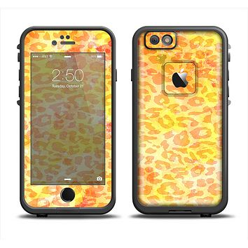 The Bright Yellow and Orange Leopard Print Apple iPhone 6 LifeProof Fre Case Skin Set