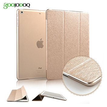 Case for iPad Air 2 / Air 1 / 5 / 6 / Mini 3 2 1,Slim Silk PU Leather+PC Hard Back Smart Cover Case Coque Auto Sleep/Wake up