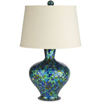 Mosaic Lamp - Emerald Blue